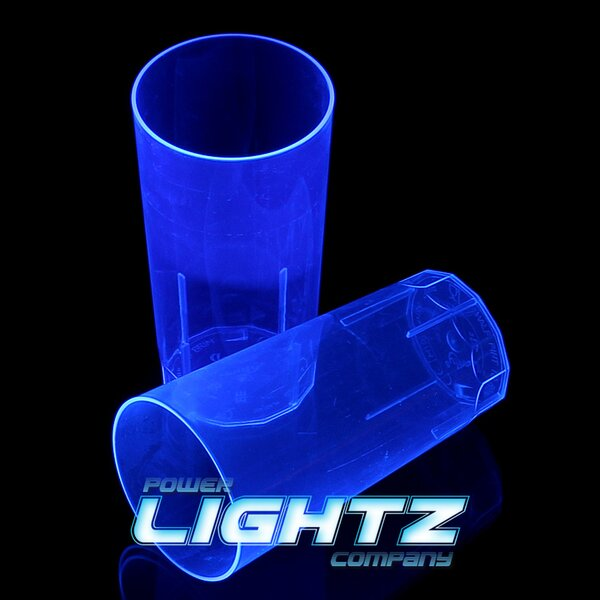 1 UV Longdrinkbecher, 250ml - in Blau